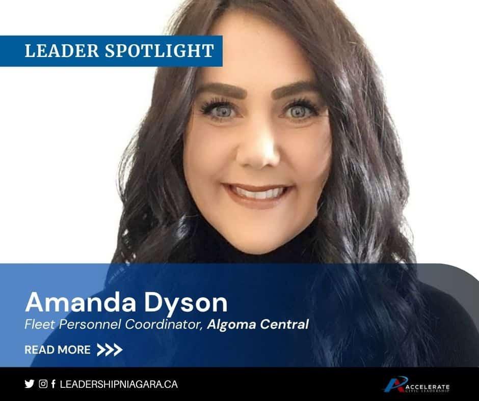 Amanda Dyson, Fleet Personnel Coordinator with Algom