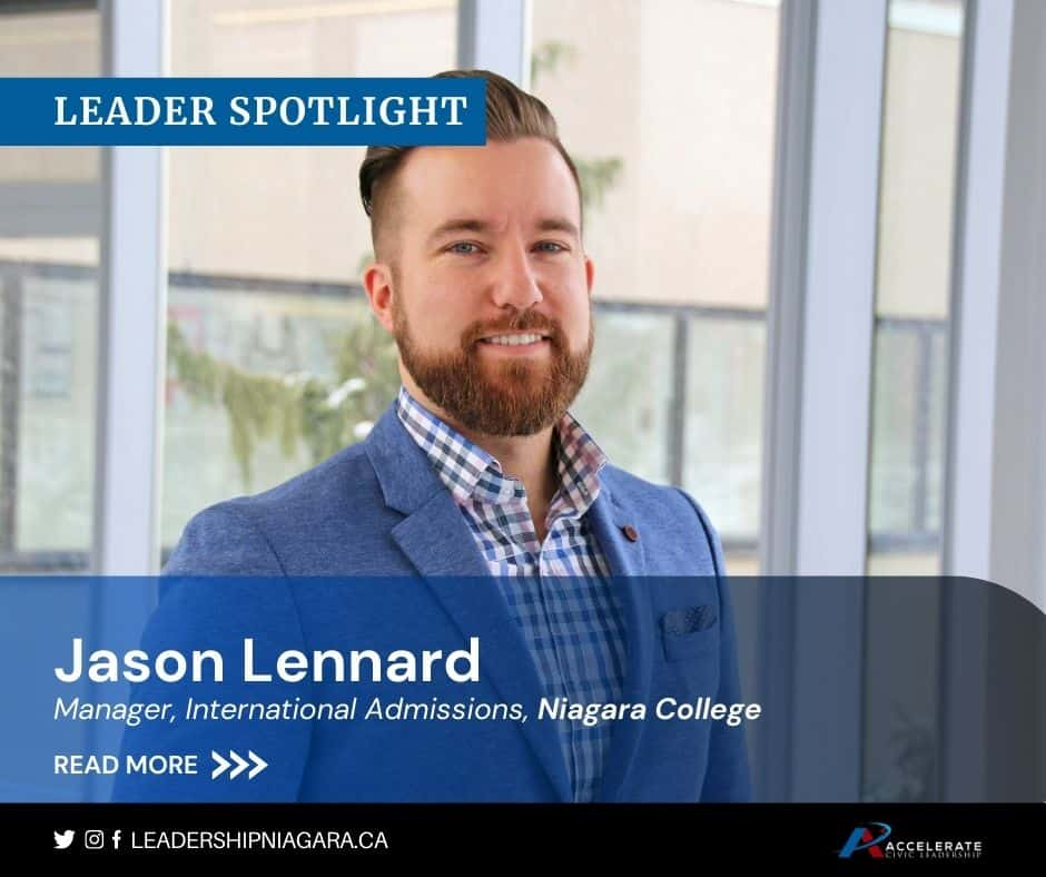 Jason Lennard, Manager, International Admissions, Niagara College