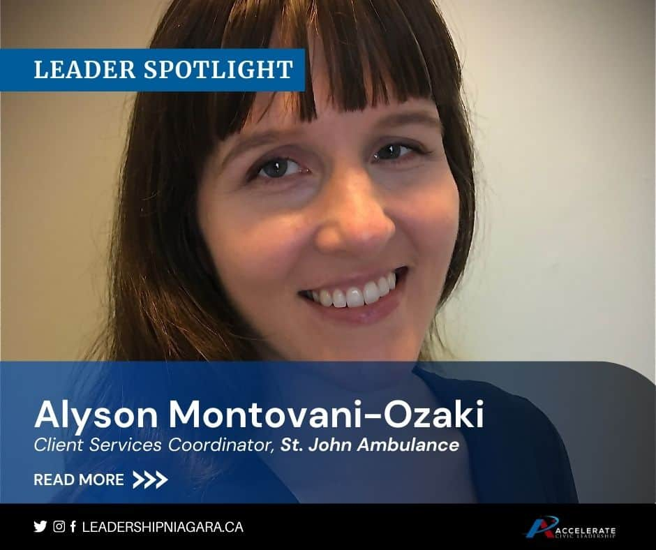 Alyson Montovani-Ozaki, Client Services Coordinator, St. John Ambulance