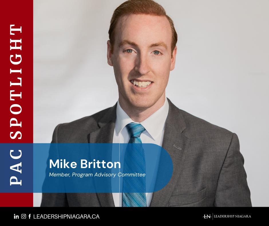 Mike Britton Program Advisory Committee member with Leadership Niagara